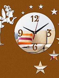 Wall Clock Living Room Acrylic Stickers Home Decoration Diy Mirror Clocks Fairy Children'S Novelty Watch Deocr
