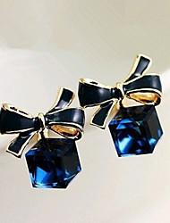 Žene Viseće naušnice Kristal Sintetički gemstones Legura Bowknot Shape Jewelry Za