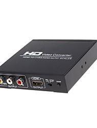 Недорогие -HDMI 1.3 3RCA S-Video Конвертер, HDMI 1.3 3RCA S-Video to HDMI 1.3 3,5 мм аудио разъем Micro USB Type A Конвертер Female - Female 1080P