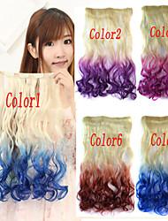 популярный новый двойной цвет вьющиеся синтетические волосы продление