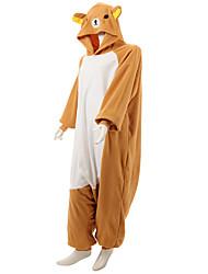 Kigurumi Pyjamas Bjørn Vaskebjørn Kostume Oransje Polarfleece Kigurumi Trikot / Heldragtskostumer Cosplay Festival / Højtider Nattøj Med