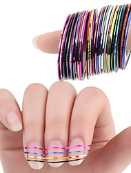 10 Colors Rolls Striping Tape Line Nail Art Sticker Tools Beauty Decorations for on Nail Stickers