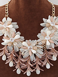 Women's New European Style Metal Fashion Trend Exaggerated Delicate Wild Flower Candy Statement Necklace