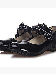 cheap -Girls' Synthetic Spring / Summer / Fall Comfort / Light Up Shoes Heels Chunky Heel Bowknot / Magic Tape Grey / Black / White