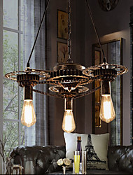 VintageLron Chandelier Industrial Wind Gear Bar Chandelier