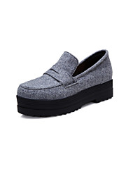 Women's Shoes Canvas Platform Platform / Creepers / Round Toe Loafers Outdoor / Dress / Casual Gray