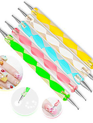 cheap -5Pcs/Set High Quality Two-Way Dotting Pen Marbleizing Painting Tool Nail Art Dot Set