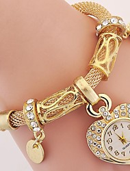 cheap -Women's Quartz Wrist Watch Bracelet Watch Rhinestone Imitation Diamond Alloy Band Charm Heart shape Vintage Casual Bohemian Elegant