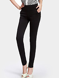 cheap -Women's Solid Blue / Red / Black Skinny Pants,Casual / Day Bodycon Fashion Slim Thin Feet pants Polyester