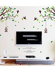 Недорогие -Животные / ботанический / Романтика / Натюрморт Наклейки Простые наклейки,pvc 60*90cm