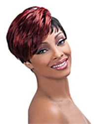 cheap -Top Quality Mix color(Bugundy&Black) Fashion Short Straight  Wig Woman's Synthetic Wigs Hair
