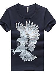The 2016 Summer men's T-shirt Korean tide cotton print T-shirt bottoming shirt male youth