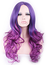 cheap -European and American Popular Anime Wig COS Curly Hair Wig Two Color Gradient Wig Spot Wholesale in Europe and America