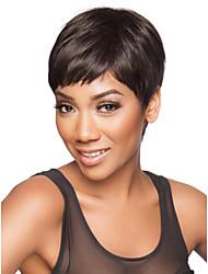 Недорогие -женщины восхитительное короткая длина прямой черный цвет синтетический парик