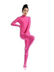 abordables -Disfraces Zentai Ninja Zentai Disfraces de Cosplay Fucsia Un Color Leotardo/Pijama Mono Zentai Espándex Licra Unisex Halloween