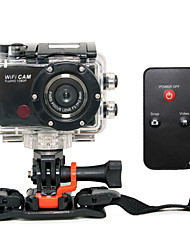 F21 Sports Action Camera 5MP 3264 x 2448 WiFi / Smile Detection / Anti-Shock 4x CMOS 32 GB H.264 50 MUniversal / Motorcycle /