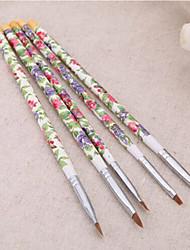 1set 5pcs gel uv acrilico di arte del chiodo scenografia pittura di linea che punteggiano costruttore pennello penna per acrilici
