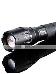 LED Flashlights / Torch LED 3000 lm 5 Mode Cree XM-L2 Adjustable Focus Impact Resistant Nonslip grip Rechargeable Waterproof Strike Bezel
