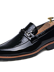 cheap -Business British Style Casual Men's High Quality Slip-on Leather Dress Shoes for Party/Office/Wedding