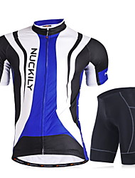 Nuckily Cycling Jersey with Shorts Men's Short Sleeves Bike Clothing Suits Quick Dry Windproof Anatomic Design Ultraviolet Resistant