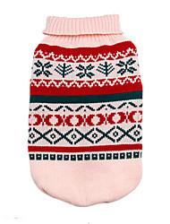abordables -Perro Suéteres Ropa para Perro Geométrico Gris Amarillo Verde Rosa Algodón Disfraz Para mascotas Hombre Mujer Moda