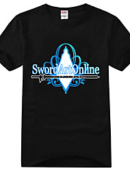 Inspired by Sword Art Online Kirito Anime Cosplay Costumes Cosplay T-shirt Print Short Sleeves T-shirt For Unisex