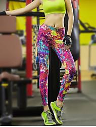 お買い得  -女性用 ランニングタイツ / ジム用レギンス スポーツ ファッション パンツ アクティブウェア 速乾性, 高通気性, ビデオ圧縮 伸縮性あり / モイスチャーコントロール