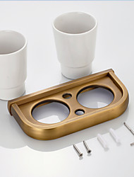 Porta spazzolini Gadget per il bagno / Ottone antico Neoclassico