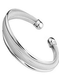 abordables -Femme Manchettes Bracelets - Argent sterling, Plaqué argent Bracelet Argent Pour Mariage