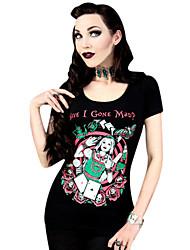 Top o camicia Lolita Classica e Tradizionale Cosplay Vestiti Lolita Con stampe T-shirt Per Licra