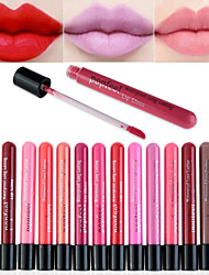 Full-Coverage Long Lasting 24 Hour Not Rub Off Matte Waterproof  liquid Lipstick Lip Gloss(12 Selectable Colors)