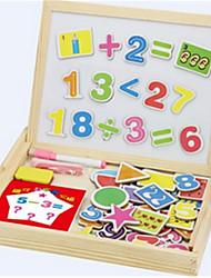 Недорогие -детская раннее образование математика форма двухсторонняя магнитная доска для рисования заклинание заклинание