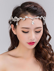 cheap -Women's Silver Crystal Rhinestone Headband Forehead Hair Jewelry for Wedding Party