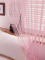 W100cm*L201cm,One Panel Rod pocket Multicolour Line String Curtains Tassel Scarf