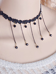 cheap -Women's Choker Necklace / Torque / Gothic Jewelry - Lace Black Necklace Jewelry For Wedding, Party, Daily