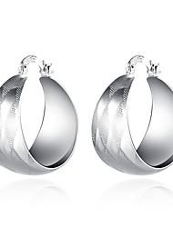 Brincos Curtos Brincos com Clipe Clássico Cobre Prata Chapeada Prata Jóias Para Casamento Festa Diário Casual 1 par