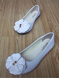 baratos -Mulheres Sapatos Flanelado Primavera / Outono Conforto Sem Salto Laço Vermelho / Rosa claro / Vinho