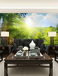 abordables -Fleur Décoration artistique 3D Fond d'écran pour la maison Contemporain Revêtement , Toile Matériel adhésif requis Mural , Couvre Mur