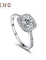 cheap -Silver Zircon Wedding Promise Ring for Lady
