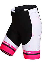 cheap -WOSAWE Women's Cycling Padded Shorts Bike Shorts / Padded Shorts / Chamois / Bottoms Quick Dry, Windproof, Breathable Stripe Polyester,