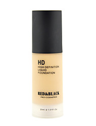 cheap -Red&Black HD Liquid Foundation Waterproof Long-lasting High Definition 30ml
