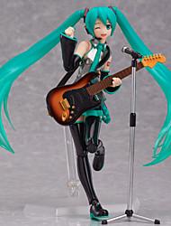 billiga -Anime Actionfigurer Inspirerad av Vocaloid Hatsune Miku pvc CM Modell Leksaker Dockleksak