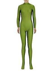 cheap -Zentai Suits Ninja Zentai Cosplay Costumes Green Solid Leotard/Onesie Zentai Spandex Lycra Unisex Halloween