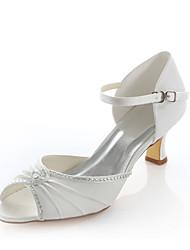 Women's Wedding Shoes Heels / Comfort / Round Toe Sandals Wedding / Party & Evening / Dress Ivory