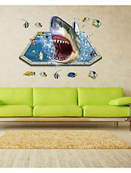 cheap -9023 Fantastic Sealifes Submarine Wall Stickers Room Decoration Coral Shark Fish Home Decals Bathroom Mural Art