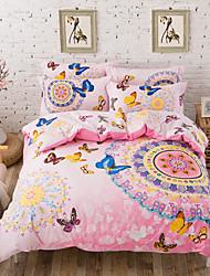 Cotton Bedding in Bag Queen Size Bedsheet Pillowcase Duvet Cover