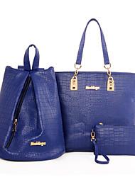 cheap -Women's Bags PU Bag Set 3 Pcs Purse Set for Casual Gray / Blue / Pink