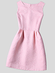 cheap -Girl's Daily Dress,Polyester All Seasons Sleeveless Dresswear Black Fuchsia Red Pink Royal Blue