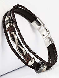 cheap -Leather Bracelet - Leather Infinity Bracelet Black / Brown For Christmas Gifts / Wedding / Daily
