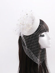 Women's / Flower Girl's Rhinestone / Imitation Pearl / Net Headpiece-Wedding / Special Occasion Fascinators 1 Piece